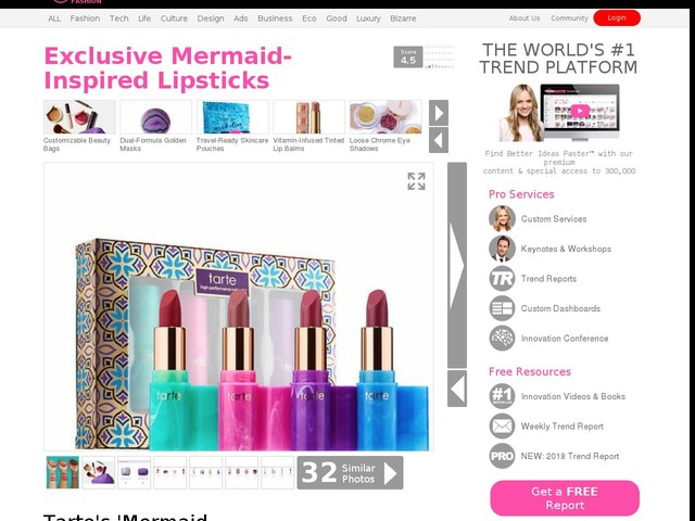 Exclusive Mermaid-Inspired Lipsticks - Tarte's 'Mermaid Kisses' Kit is Available for a Limited Time (TrendHunter.com)