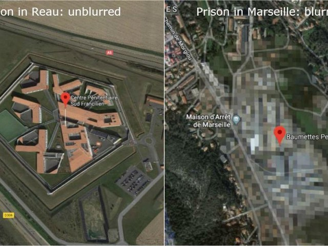 Get out of jail free card? Aerial shots of breakout prison still not blurred