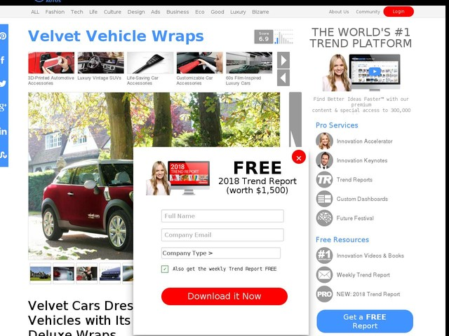 Velvet Vehicle Wraps - Velvet Cars Dresses Up Vehicles with Its Deluxe Wraps (TrendHunter.com)