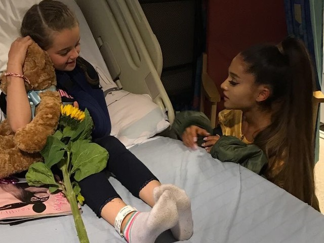Ariana Grande surprises young Manchester terror attack survivors in hospital with gifts