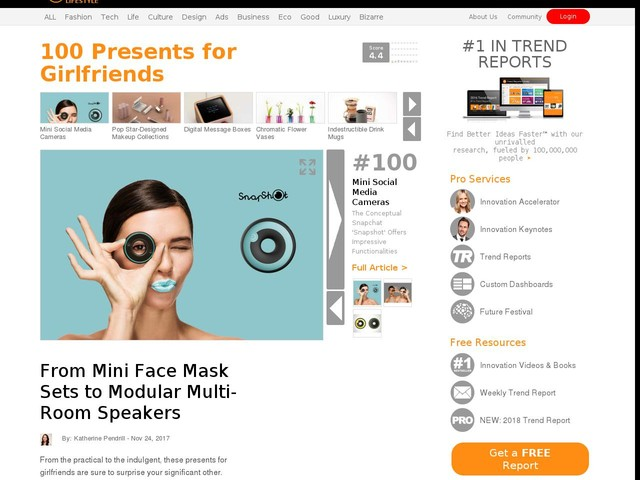 100 Presents for Girlfriends - From Mini Face Mask Sets to Modular Multi-Room Speakers (TrendHunter.com)