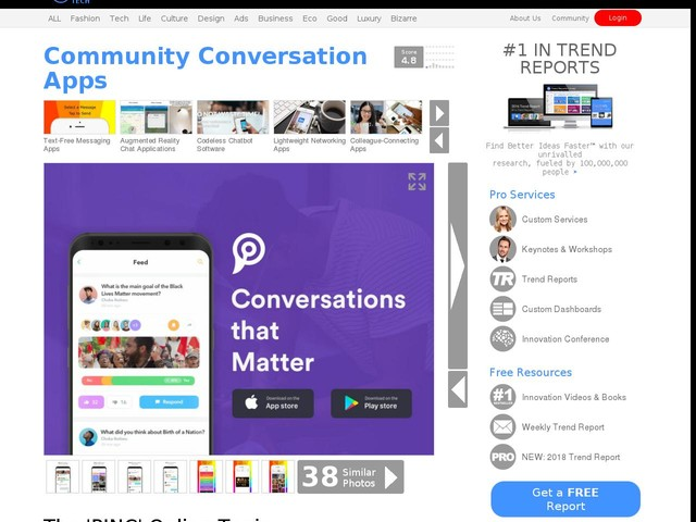 Community Conversation Apps - The 'PINC' Online Topic Discussion Platform Eliminates Distractions (TrendHunter.com)