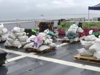 Coast Guard displays 20,000 lbs of seized cocaine