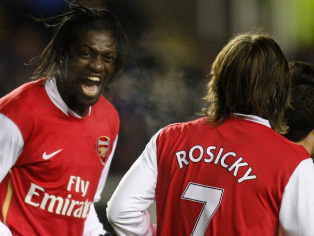 Emmanuel Adebayor mocks former Arsenal teammate Tomas Rosicky's injury record with incredible claim