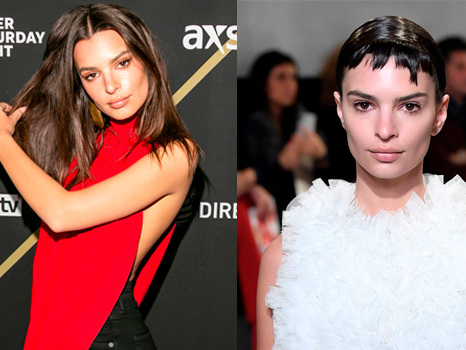 Emily Ratajkowski Ditches Long Locks For Jagged Pixie Cut Wig During NYFW Show & Looks SO Different