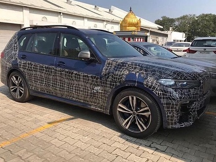BMW X7 spied in India