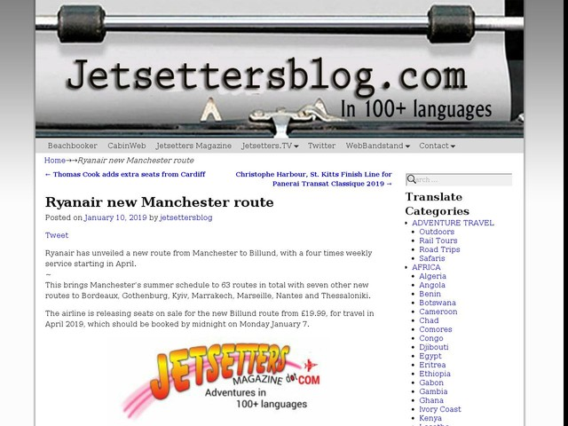 Ryanair new Manchester route