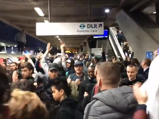 Chaos for London commuters for the second day running as the Jubilee Line is shut down