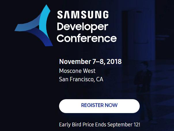 Samsung Developer Conference 2018 early bird registrations go live