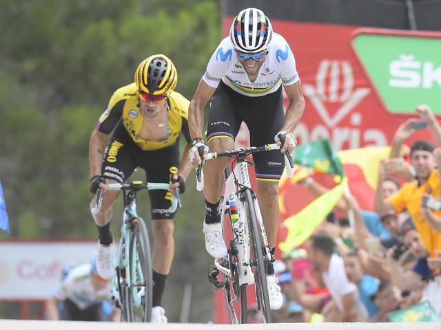 Lopez retakes lead after Valverde wins stage seven at Vuelta a España
