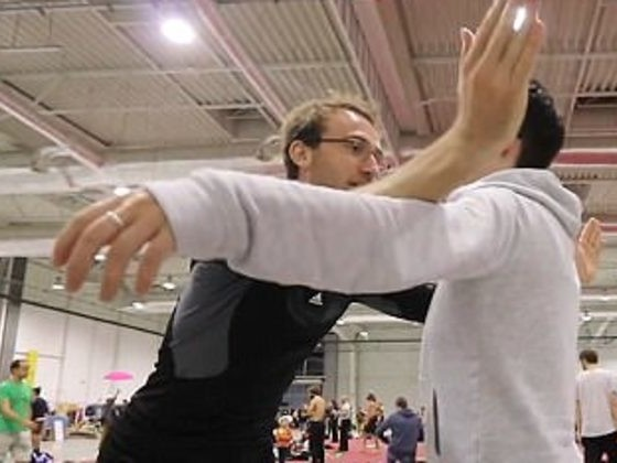 If You Hate Hugging, This Guy Has All The Funny, Awkward Moves To Avoid It