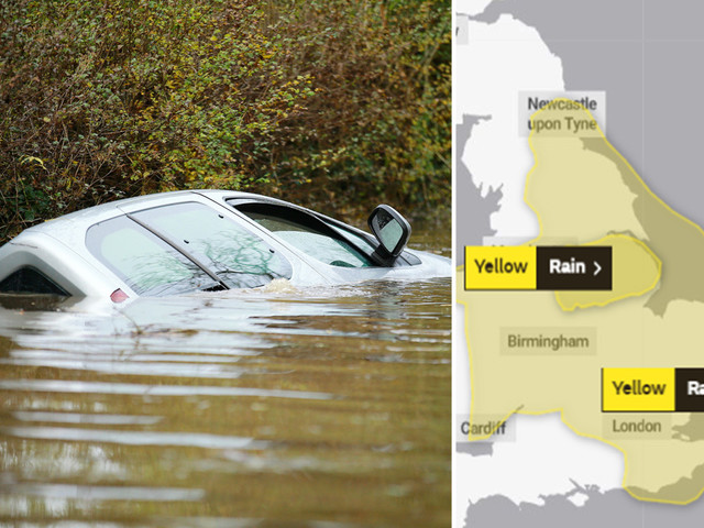 UK weather forecast – Half a month's rain to fall in ONE DAY as Met Office warns more floods to batter Britain