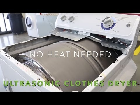 Ultrasonic Clothes Dryers - Oak Ridge National Laboratory is Working on a Heat-Free Dryer (TrendHunter.com)