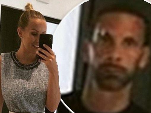Kate Wright jokes Rio Ferdinand gave her EVILS as he lurks behind her