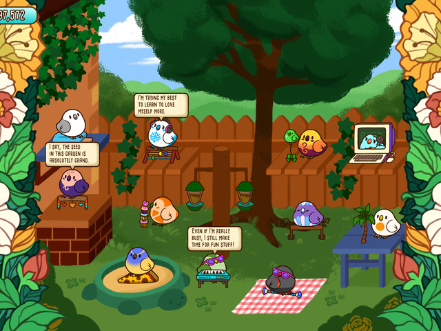 Tiny Bird Garden Deluxe is a feathery Neko Atsume with added hats