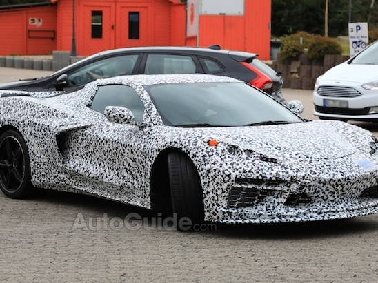 Mid-Engine Corvette Spotted with Stingray Badge Inside