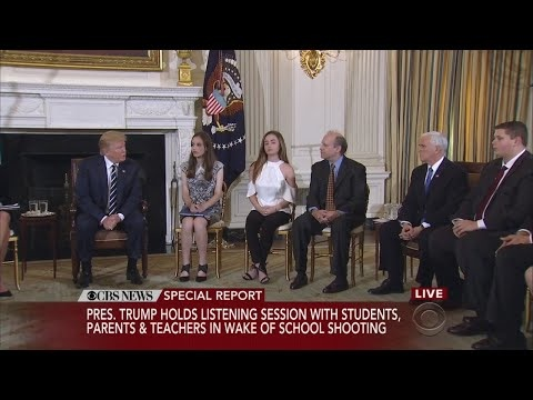 Trump Advocates Arming School Employees During Emotional Session With Shooting Survivors