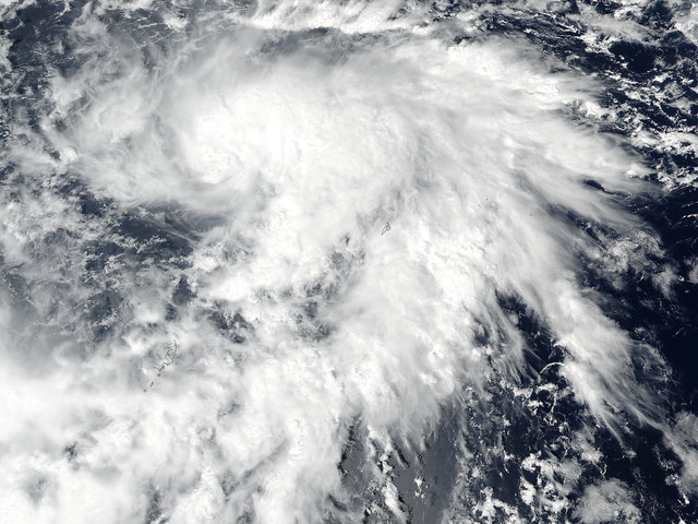 NASA finds newly formed tropical storm lan over open waters
