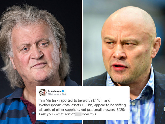 England legend Brian Moore slams Wetherspoons chief Tim Martin over not paying £20k to brewery for beer sold to his pubs