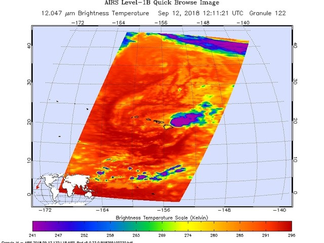 NASA sees Hawaii facing Tropical Storm Olivia