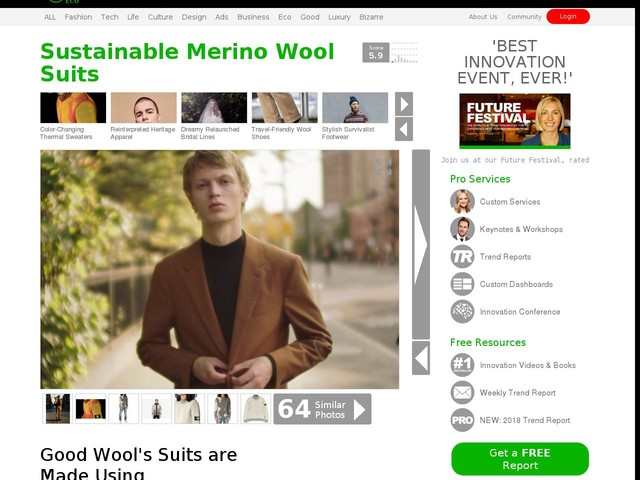 Sustainable Merino Wool Suits - Good Wool's Suits are Made Using Environmentally Friendly Practices (TrendHunter.com)