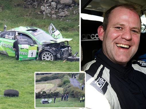 Champion driver killed as car smashes off the road during Ireland's Donegal rally