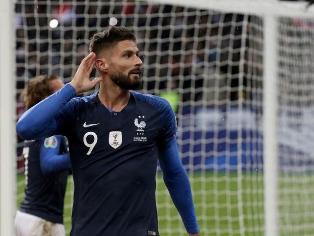 WATCH: Olivier Giroud's header opens the scoring for France against Turkey