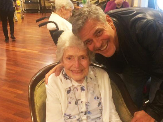 George Clooney Surprised This Super Fan With Flowers For Her 87th Birthday