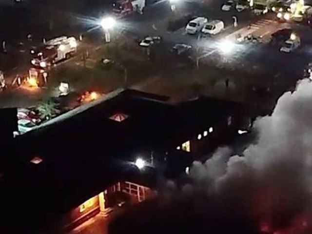 Stunning Tamworth hospital drone footage shows extent of fire at Sir Robert Peel