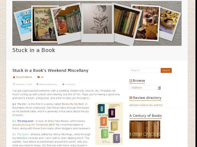 Stuck in a Book's Weekend Miscellany