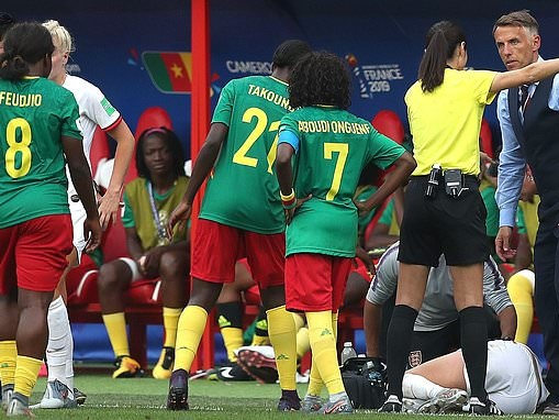 Phil Neville slams Cameroon histrionics during Women's World Cup last-16 clash defeat by England