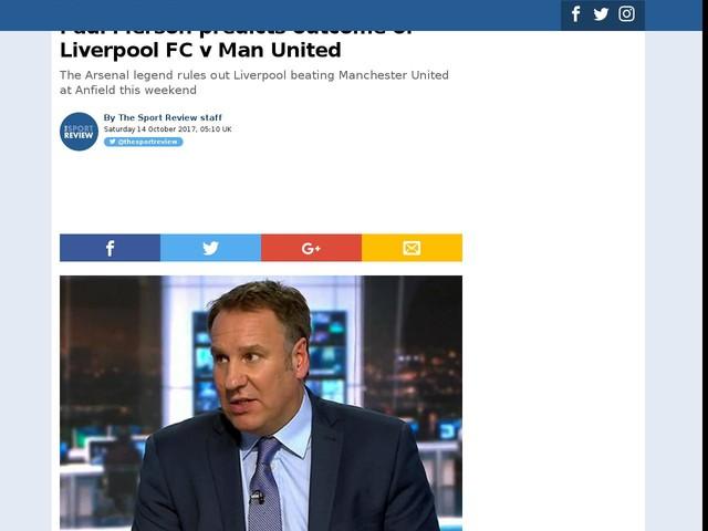 Paul Merson predicts outcome of Liverpool FC v Man United