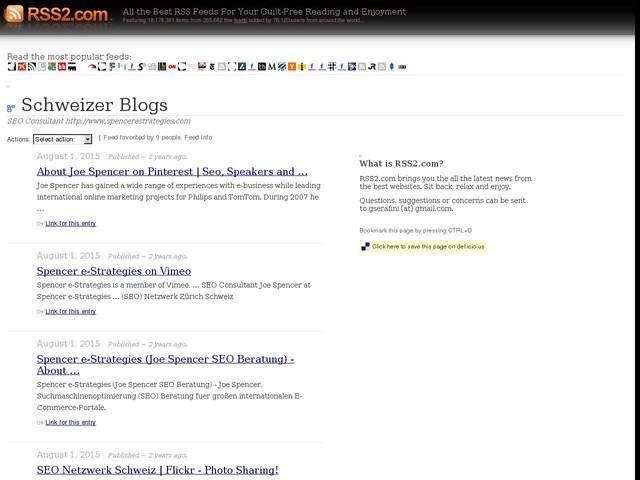 Schweizer Blogs - SEO Consultant http://www ...