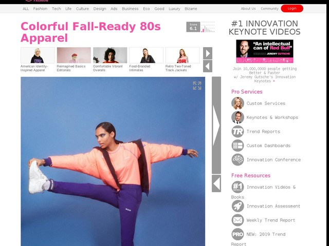 Colorful Fall Ready 80s Apparel