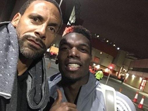 Pogba poses with Rio as Mourinho hails Frenchman's return