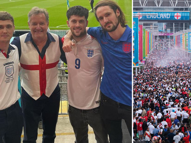 Piers Morgan reveals he caught Covid in Wembley Euro final chaos – despite being double-jabbed