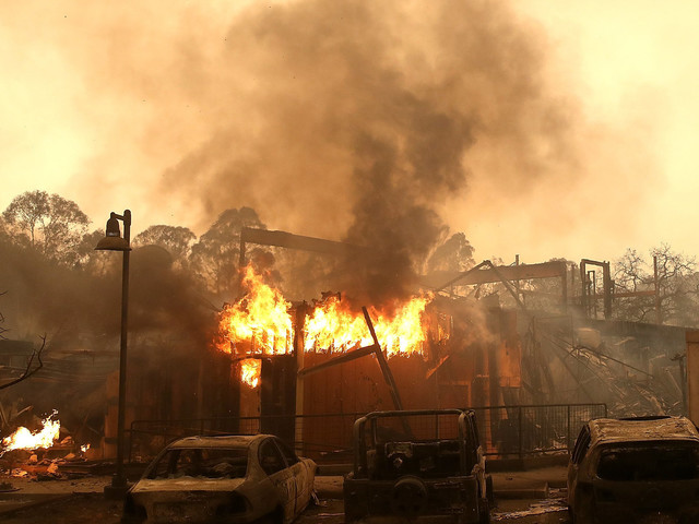 California Wildfires In Napa And Sonoma County Kill At Least 10