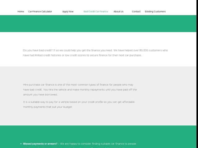 Bad Credit Car Finance | The Car Finance Company