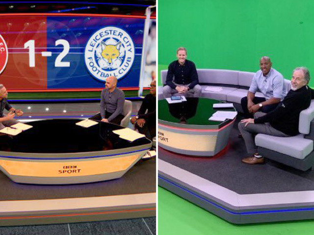 BBC's MOTD studio looks nothing like it does on TV as fans wish they could unsee green screen background