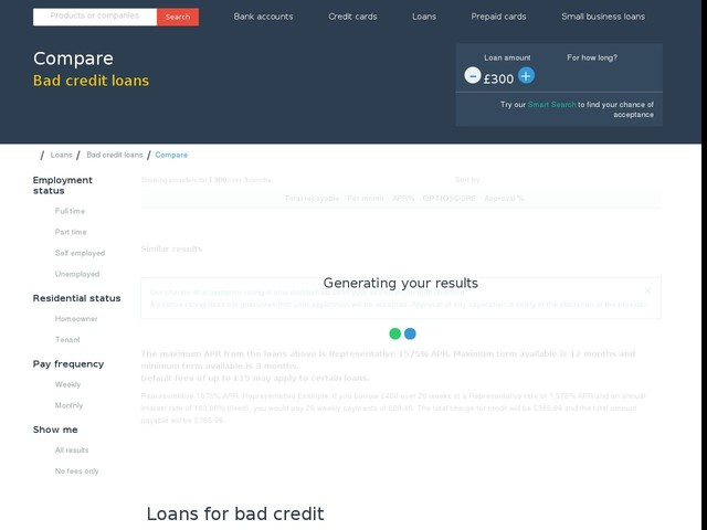 Compare Bad Credit Loans on Choose Wisely