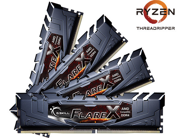 G.Skill Unwraps Flare X 32 GB and 128 GB DDR4 Kits for AMD Threadripper: Up to 3600 MT/s