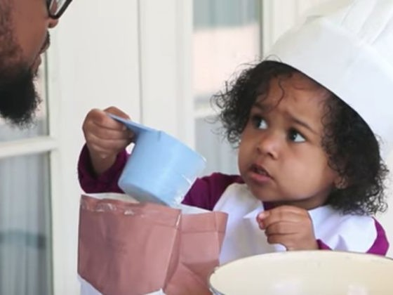 Adorable Daddy-Daughter Duo Fumbles Their Way Through Baking A Cake Together