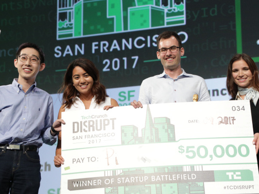And the winner of Startup Battlefield at Disrupt SF 2017 is… Pi
