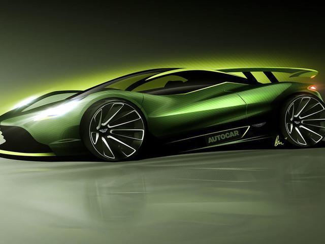 Aston Martin previews 'son of Valkyrie' hypercar for Geneva reveal