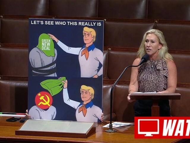 Conspiratorial Congresswoman Uses Memes to Attack Biden's Green New Deal