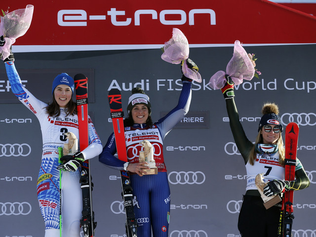 Brignone and Vlhová share giant slalom win at FIS World Cup in Sestriere