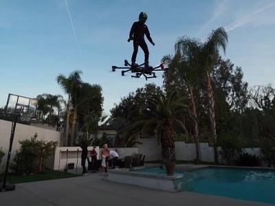 Hunter Kowald Is Flying All Over LA in His Custom, Production-Ready Hoverboard