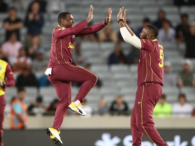 West Indies bowl, Mayers debuts; New Zealand bring back Sodhi