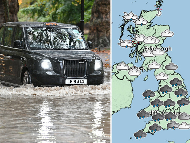UK weather forecast: Snow and heavy rain to hit Britain today in chilly start to weekend