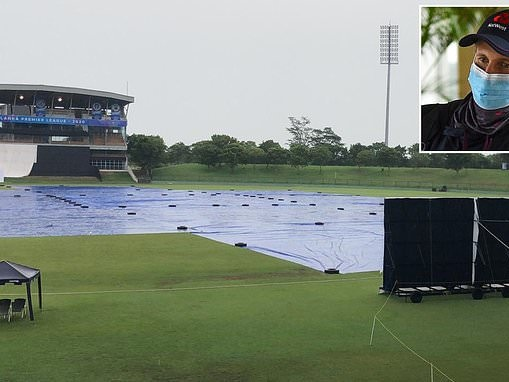 England warm-up match ahead of Test series is washed out without a ball being bowled on day two
